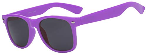 Retro 80's Vintage Sunglasses Purple Frame Smoke Lens for Ladies