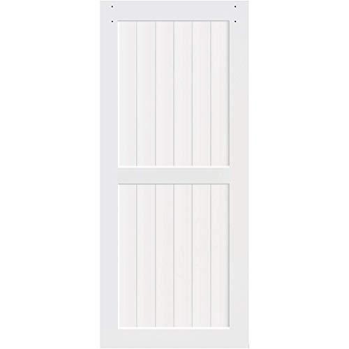 Kimberly Bay 2-Panel White Solid Core Pine Barn Door Slab (83.5×30)
