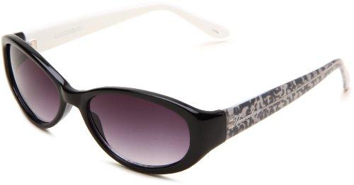 union-bay-womens-u190-oval-sunglassesblack-animal-framesmoke-gradient-lensone-size