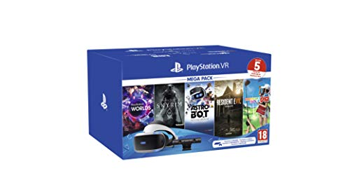 PS VR – Mega Pack V2 -PS VR headset + PS Camera +5 Giochi- Bundle [Importación italiana]