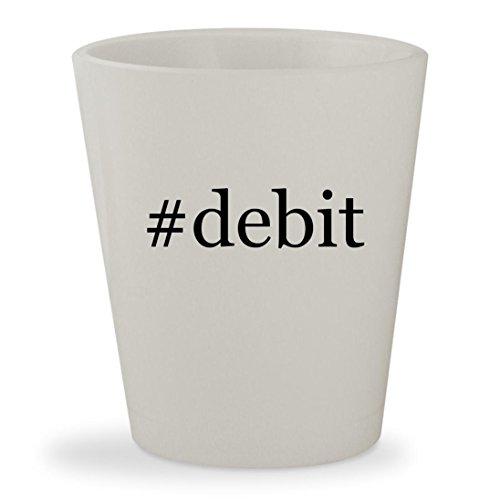 #debit - White Hashtag Ceramic 1.5oz Shot Glass