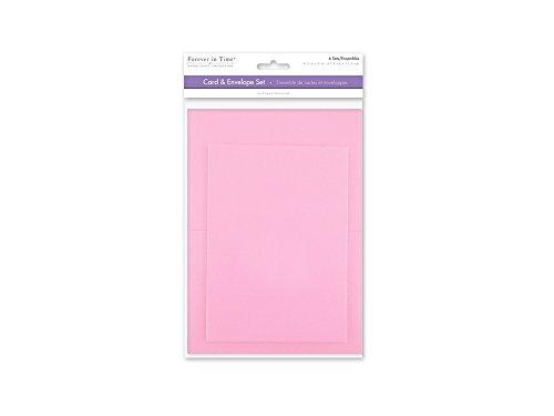[해외]Forever in Time CM600D A6 Cards & Envelopes 6 Sets 4.5in x 6in Pink / Forever in Time CM600D A6 Cards & Envelopes, 6 Sets, 4.5in x 6in, Pink