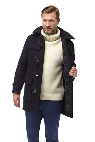 (Original Montgomery Mens London Luxury Duffle Coat - (40, Navy))