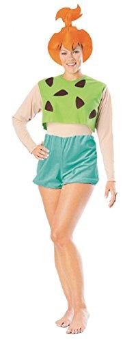 Rubies Womens Flintstones Pebbles Theme Party Fancy Halloween Cartoon Costume, One Size (Up To (Pebble Halloween Costumes)