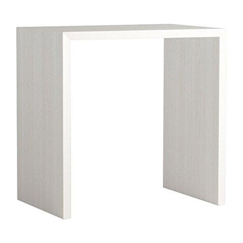 arne カウンターテーブル バーテーブル セミオーダー 日本製 幅85cm 奥行60cm 高さ90cm おしゃれ デスク 書斎 机 木製 パソコンテーブル Zero-X 8560HH ホワイトウッド B079L1JNMN 幅85×奥行60,ホワイトウッド