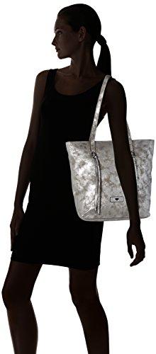 TOM TAILOR Maja Shopper Tasche 28,5 cm Silber (Silber)