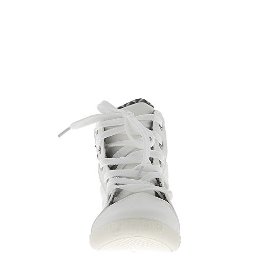Sneakers donna bianca in aumento e interno foderato imbottita