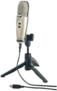 CAD Audio U37 - Micrófono (Alámbrico, Plata, USB)