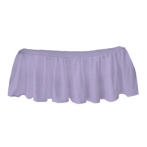 bkb Solid Ruffled Mini Crib Skirt, Lavender