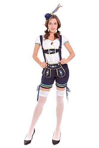 (Hacos German Bavarian Oktoberfest Lederhosen Costume Set Beer Festival Outfits for Men and Women (XL,)
