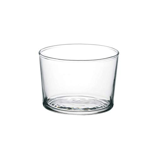 Bormioli Rocco Essential Decor Glassware - Set Of 12 Mini 7.5 Ounce Drinking Glasses For Water, Beverages ,Cocktails & Candle Holders - 7.5oz Clear Tempered Glass Tumblers