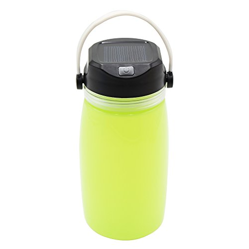 QILOVE Storage Solar Powered Silicon Bottle Camping Light USB Rechargeable Lanterns Decorative (Green) by QILOVE