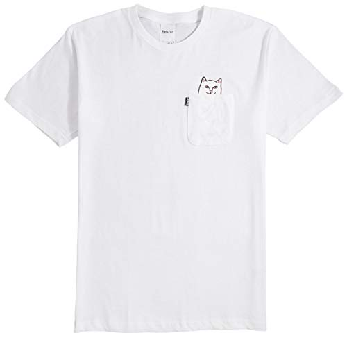 RIPNDIP Lord Nermal Pocket T-Shirt - White - LG