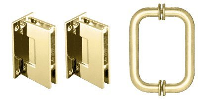 Crl Shower Door Hinge (CRL Brass Geneva Series Frameless Shower Door Hinge & Handle Set)