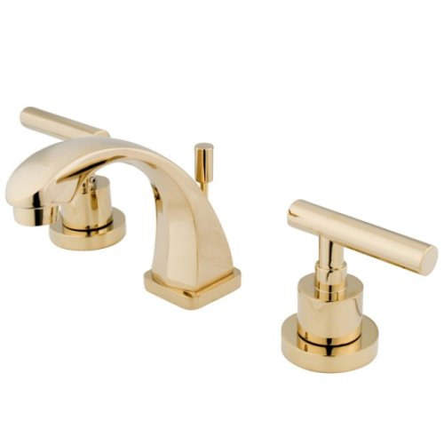 - Kingston Brass KS4942CML Concord Mini Widespread Lavatory Faucet, Polished Brass