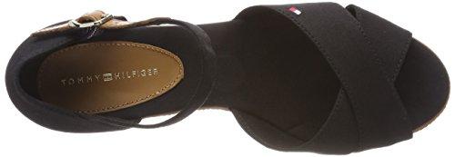Riemchensandalen Tommy Hilfiger Elba Schwarz Black Basic Sandal Damen 990 Iconic UYUWqa