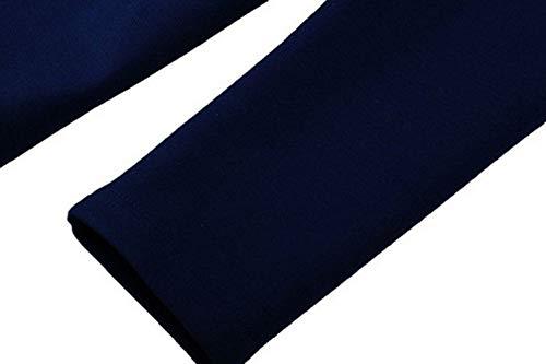 Rond Blazer Svelte Lrud Longues Costume Blue Mode Col Équipé Bouton Femmes Manches Veste xIYq8I