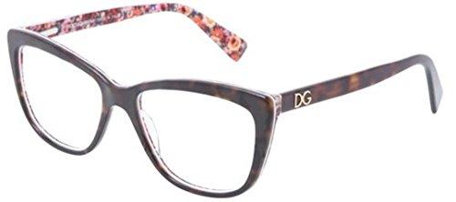 Dolce&Gabbana DG3190 Eyeglass Frames 2790-52 - Top Havana/mosaic