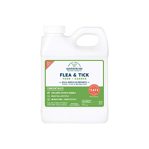 Flea Repel - Wondercide Natural Flea and Tick Yard Garden Spray | Kill, Control, Prevent Fleas, Ticks, Mosquitoes & Insects - Natural Concentrate Safe Around Kids, Pets, Plants 16 OZ