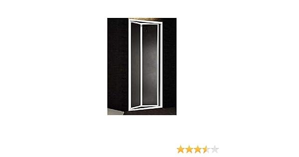 Puerta Ducha a hueco apertura dos puertas libro aluminio blanco y acrílico mate efecto mojado h.185 cm Boreas: Amazon.es: Bricolaje y herramientas