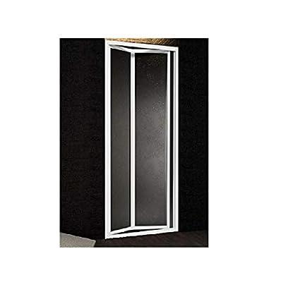 Larghezza 100 cm BOREAS Altezza 185 cm Profili argento satinato Box doccia in Acrilico nicchia porta a libro Mod