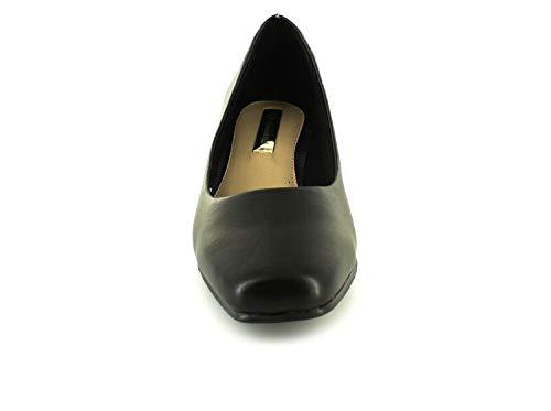 Femmes Neuf 3 4 Pied 8 Plus Noir 5cm Chaussures Talon Cour Pour femmes Tailles Large Comfort Uk t5zZqww