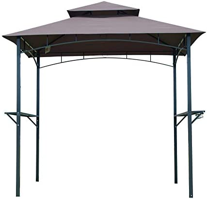 Feelway 8'x 5' Gazebo Outdoor Barbecue Grill 2-Tier W/Shelves Canopy Tent Shelter
