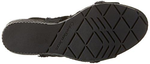 Calvin Jeans Klein Punta Donna Aperta Black R4056 Sandali Nero rarpwW7nxg
