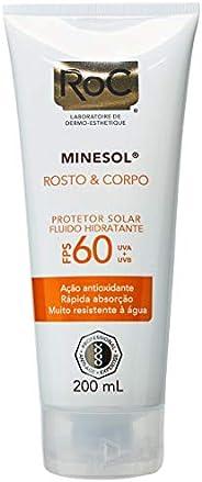 Protetor Solar ROC Rosto e Corpo FPS 60, 200 ml