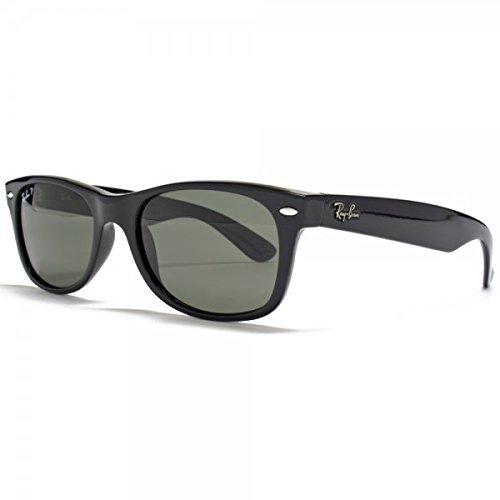 90158 Authentic crystal New 901 Shiny W Black 58 Sunglasses Rb2132 ban Wayfarer Polarized 55mm 2132 Green Large Ray 7nqpZTxtwq