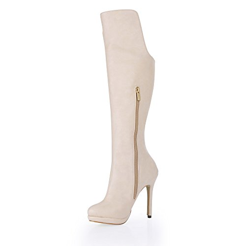 The high quality and boots winter new ultra popular waterproof desktop m white high-heel Ladies Boot White MN46oVE5wG