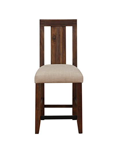 Modus Furniture 3F4170 Meadow Counter Chair, Brick Brown