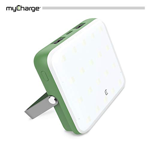 myCharge Camping Lantern Power Bank - 10,000 mAh Adventure Portable Charger | Rechargeable LED Phone Charger Battery Pack | 2 USB Ports / 2.4A Max | 40 HR Lamp Runtime / 4 Light Settings (Mycharge Power Pack)
