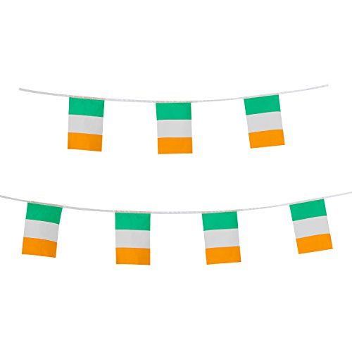 TSMD Ireland Flag, 100 Feet Irish Flag National Country World Pennant Flags Banner,Party Decorations for Grand Opening,Olympics,Bar,School Sports Events,International Festival Events -