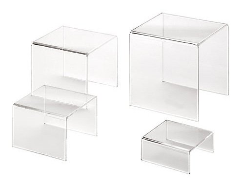 American Metalcraft CRS1 Clear Acrylic Risers - Set of 4 Sizes