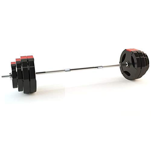 TnP Tri-Grip Vinyl Barbell Set 60KG Tri Grip Weight Plate Set Tricep Bicep Weights Sets Bars Bar