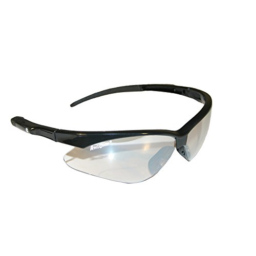 ArcOne SE-7002 Safety Eyewear / Protective Glasses with Indoor/Outdoor Lens and Black Gloss Frame with Clear Mirror Finish...