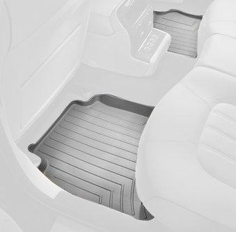 WeatherTech Custom Fit Rear Floorliner for Ford Super Cab Gray 463053