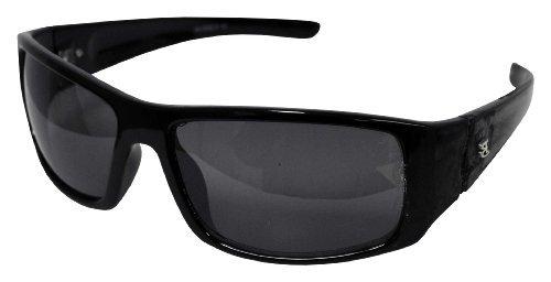 Bimini Bay Men's BB6 Matt Black Frame/Smoke Lens Wrap Around 55mm Polorized - Polorized
