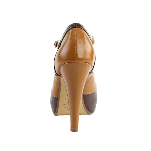 Faux Up Brown Dark Bettie Pin 29 maple Leather Couture 0Twq6B