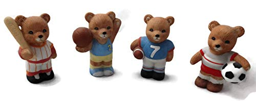 Homco Sports Bears Collectible Figure Set 4 Pieces