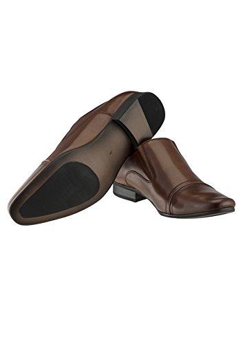 Le Glissement De Bourbon Hommes Tarocash Sur Les Chaussures En Cuir De Chaussures Tailles 7-13 Pour Sortir Intelligent Brun Occasions Particulières