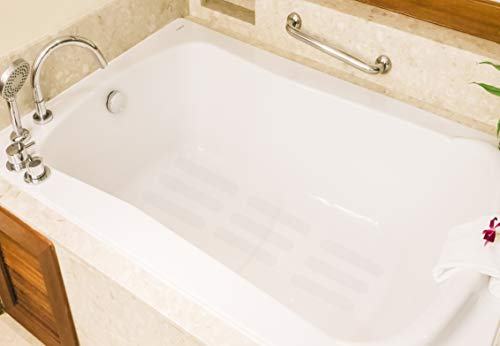 EdenProducts Clear Bathtub Stickers Non Slip For Shower And Tub, Traction Treads Strips, 2 Inch x 20 Feet (240 Inch) Roll, Prevents Slipping, Mildew Resistant, PVC Free, Easy Installation
