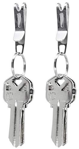 KeySmart Nano Clip - Pocket Clip Key Ring Holder - Secure Your Key Chain, Eliminates Pocket Bulge (2 Pack)