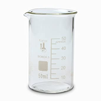 213f6 karter scientific 50ml glass tall form griffin beaker pack of