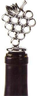 Chrome Grapes Bottle Stopper - Love of Wine