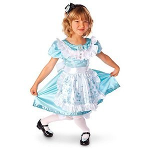 disney store alice in wonderland halloween costume dress size m medium 7 8