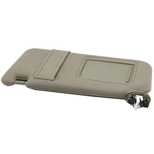 (Ezzy Auto Beige Left Driver Side Sun Visor fit for Toyota Camry with Sunroof and Light 2007 2008 2009 2010 2011)