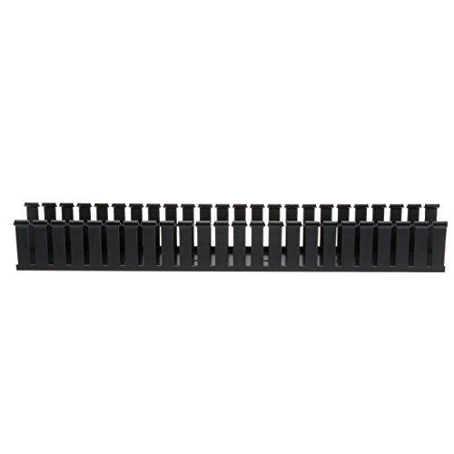 Panduit G2X2BL6 Type G Wide Slot Wiring Duct, PVC, Black