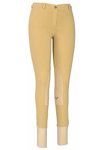 TuffRider Women's Cotton Lowrise Pull-On Breeches, Light Tan, 34
